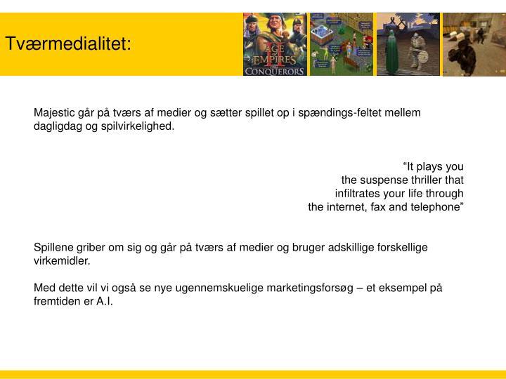 Tværmedialitet: