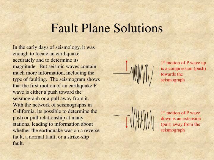 Fault Plane Solutions