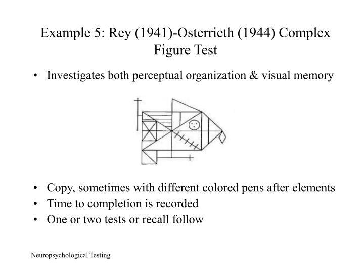 Example 5: Rey (1941)-Osterrieth (1944) Complex Figure Test
