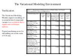 the variational modeling environment2