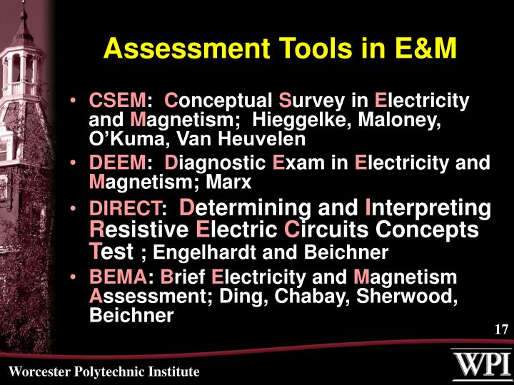 Assessment Tools in E&M