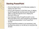 starting powerpoint2