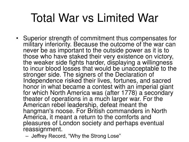 Total War vs Limited War