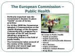 the european commission public health