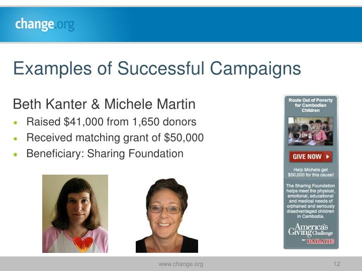 Examples of Successful Campaigns