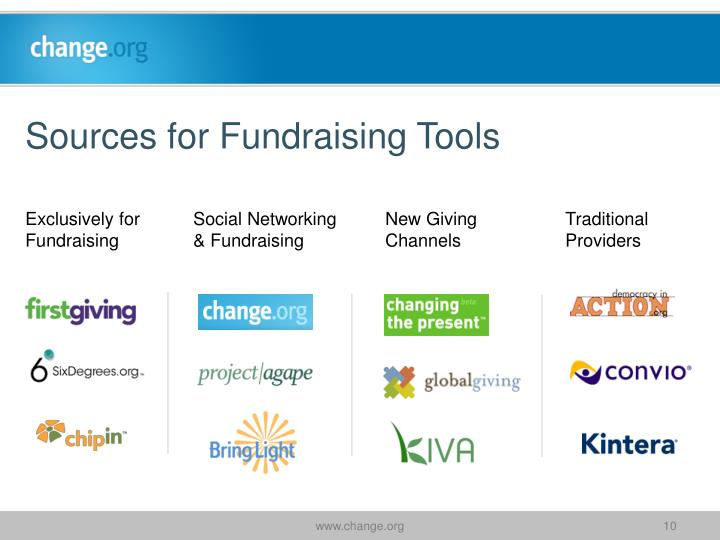 Sources for Fundraising Tools