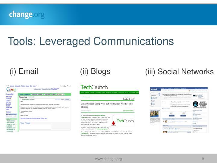 Tools: Leveraged Communications