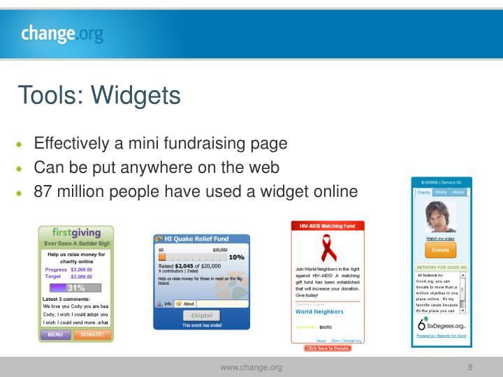 Tools: Widgets