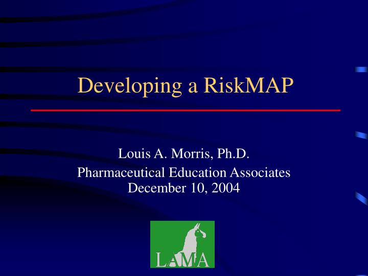 developing a riskmap n.