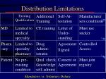 distribution limitations