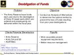 deobligation of funds