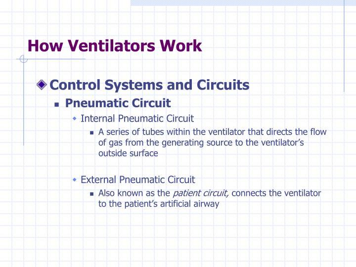 How Ventilators Work