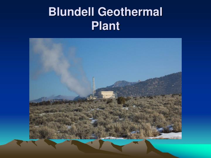 Blundell geothermal plant1
