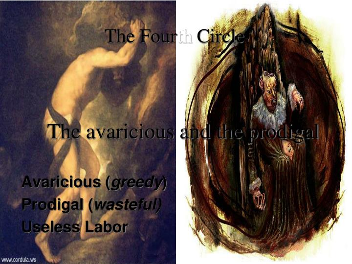 The avaricious and the prodigal
