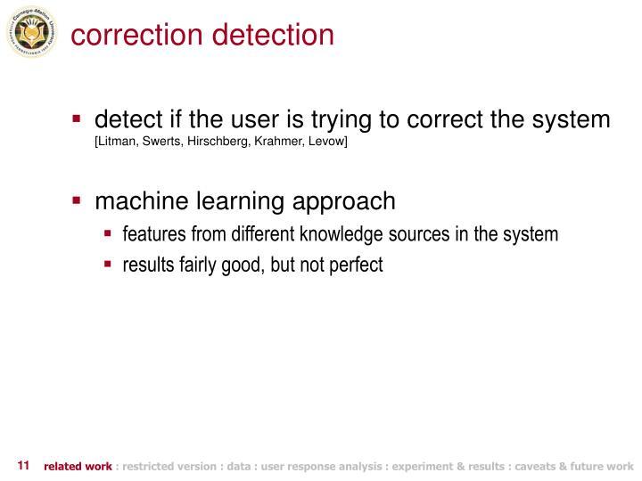 correction detection