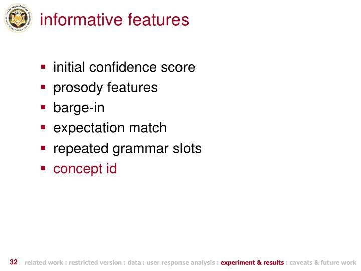 informative features