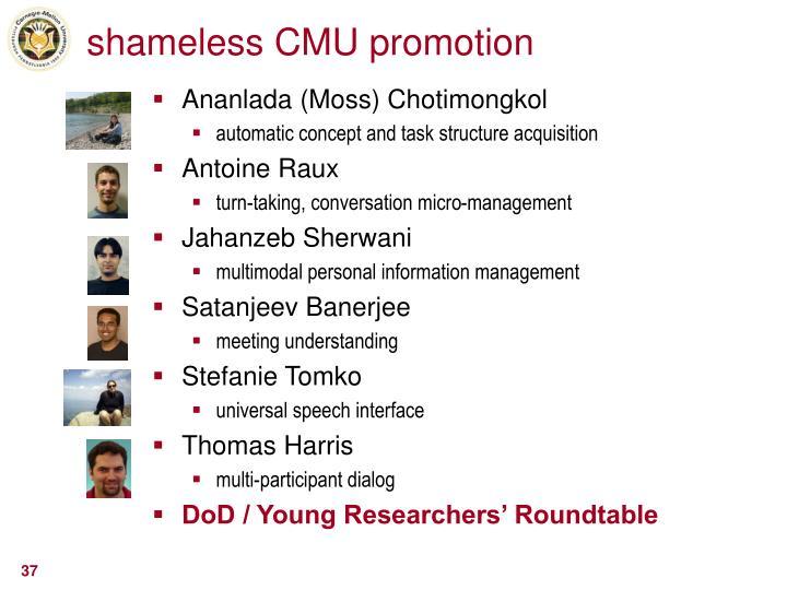 shameless CMU promotion