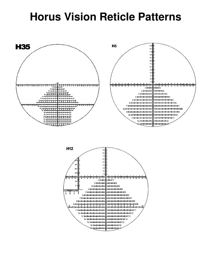 Horus Vision Reticle Patterns