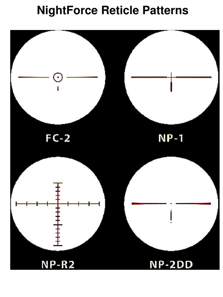 NightForce Reticle Patterns