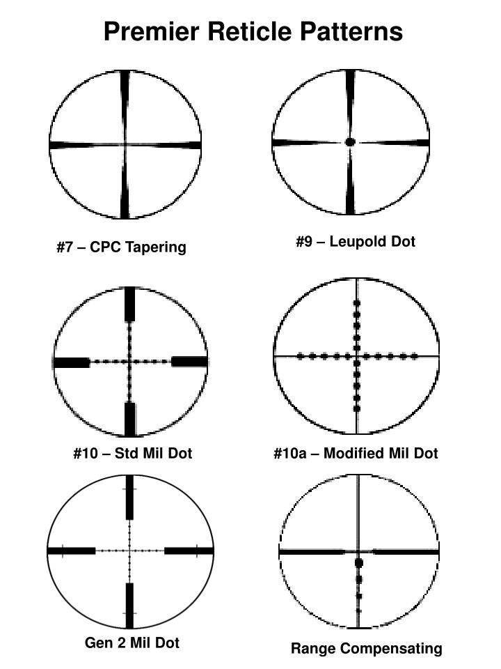 Premier Reticle Patterns