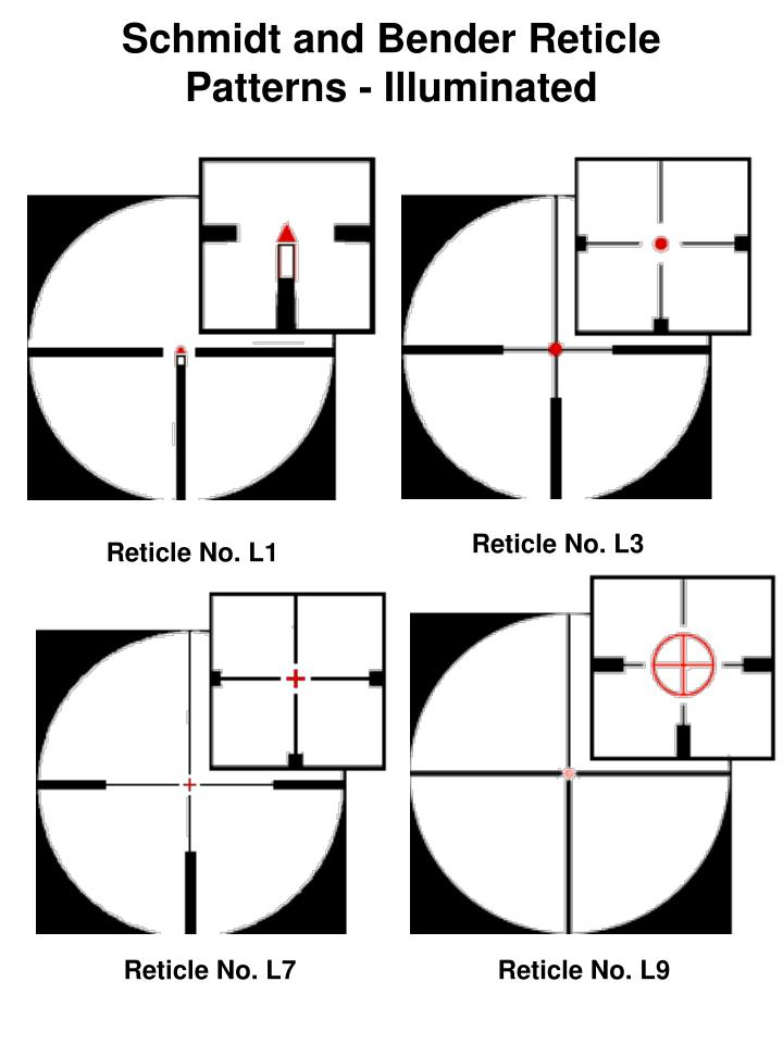Schmidt and Bender Reticle Patterns - Illuminated
