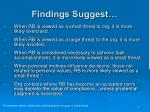 findings suggest