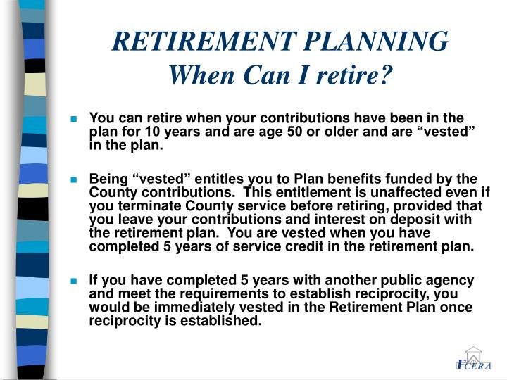 Retirement planning when can i retire