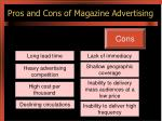 pros and cons of magazine advertising1