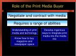 role of the print media buyer