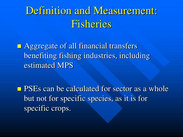 Definition and Measurement: