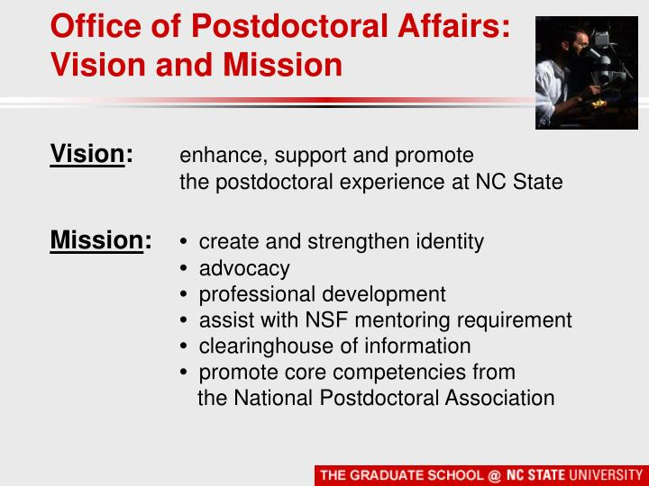 Office of Postdoctoral Affairs: