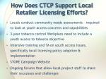 how does ctcp support local retailer licensing efforts
