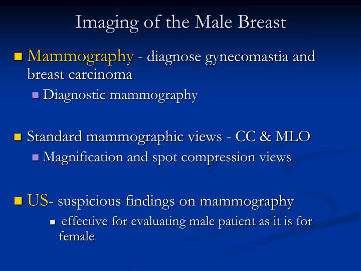 Imaging of the Male Breast