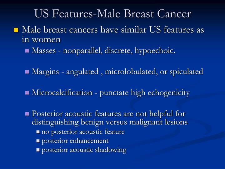 US Features-Male Breast Cancer