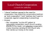 local church cooperation a search for authority1