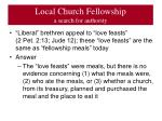local church fellowship a search for authority2