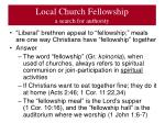 local church fellowship a search for authority3