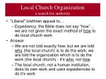 local church organization a search for authority