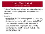 local church work a search for authority1