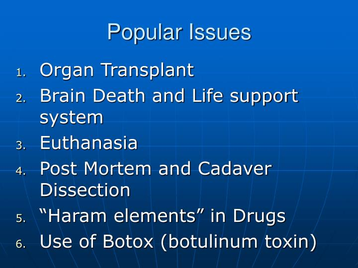 Popular Issues