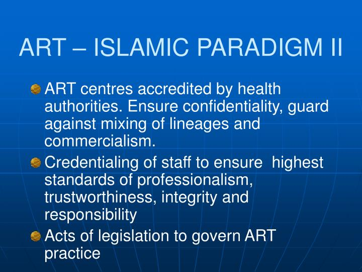 ART – ISLAMIC PARADIGM II