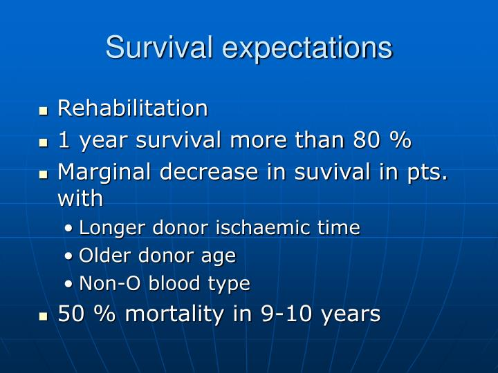 Survival expectations