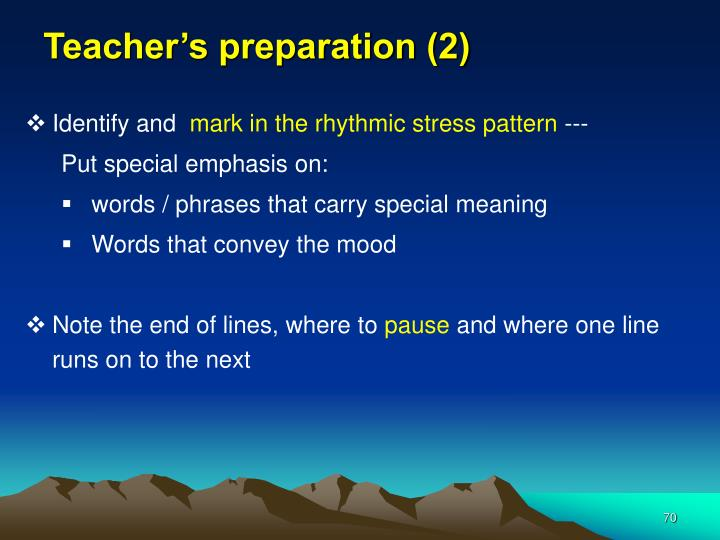 Teacher's preparation (2)