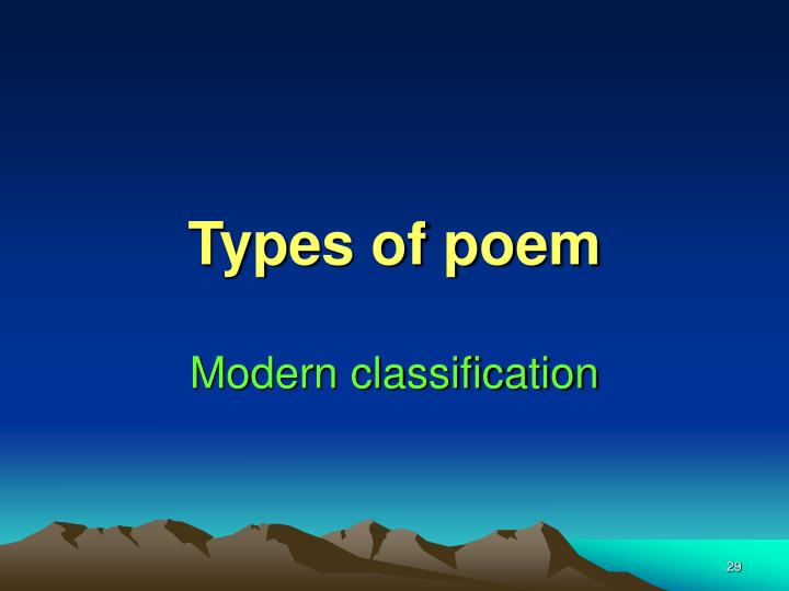 Types of poem