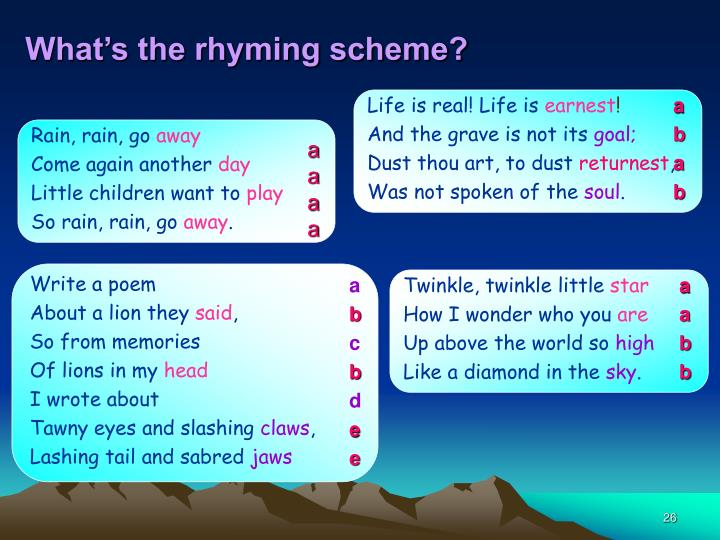 What's the rhyming scheme?