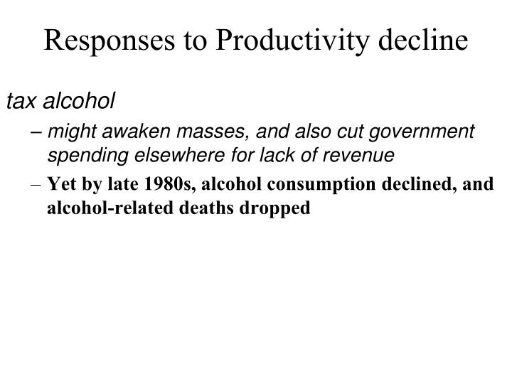 Responses to Productivity decline