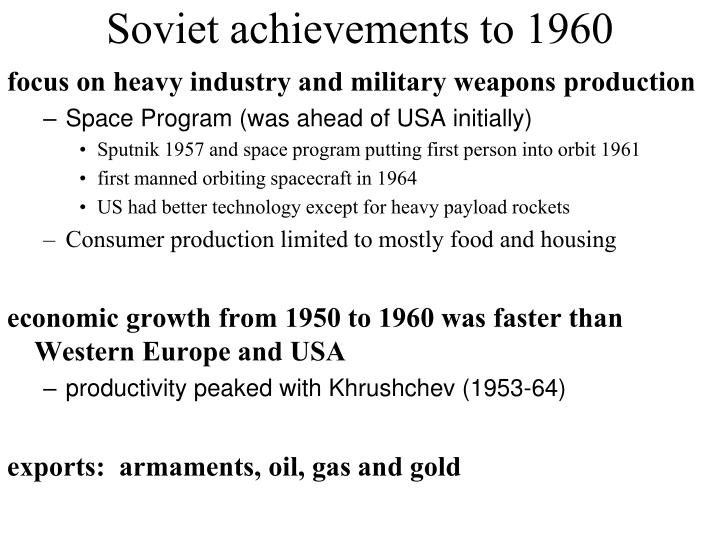 Soviet achievements to 1960