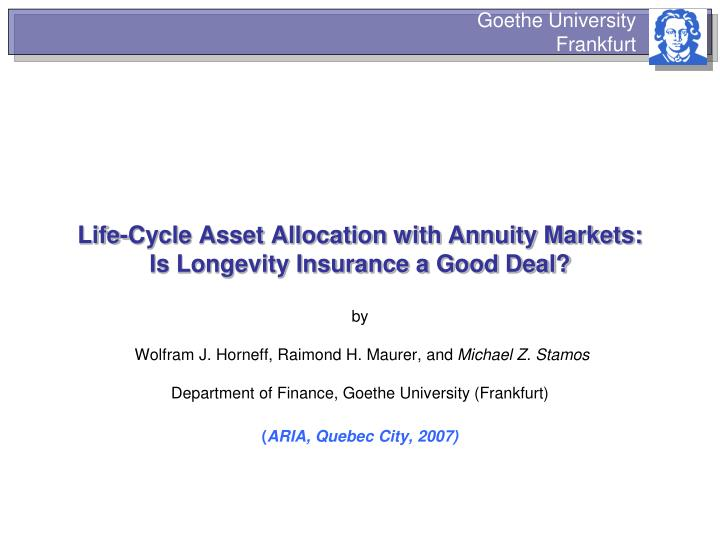 Life-Cycle Asset Allocation with Annuity Markets: