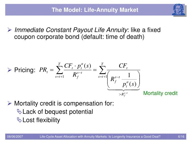 The Model: Life-Annuity Market
