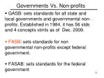 governments vs non profits